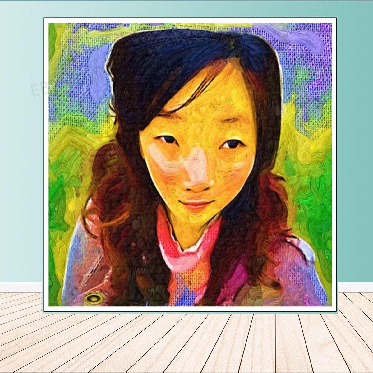 Модный настенный художественный персонаж для азиатских девушек, Автопортрет, украшение для дома, картина маслом, настенные картины, украше...
