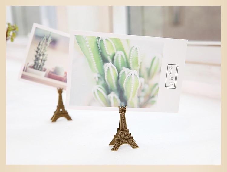 10Pcs Paris Eiffel Tower Decoration Photo Memo Clip Stand Display Holder Card
