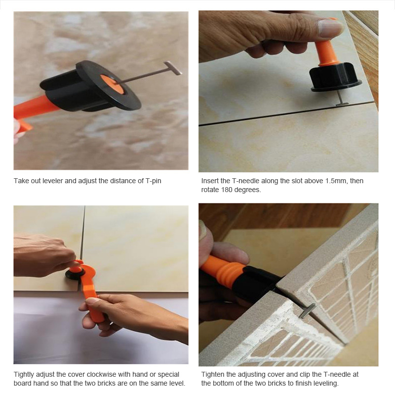 Tile Leveling System Kit Reusable Leveler Flat Ceramic Floor Wall Construction Tools AUG889