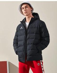 Image 4 - KELME Männer der Baumwolle Jacke Paar Mit Kapuze Warme Mantel Ausbildung Sport Team Uniform Baumwolle Gefütterte Mantel 3881405