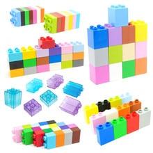 Tijolos a granel coloridos 2 4 pontos mosaico quadrado tamanho grande bloco de construção montagem acessórios tijolos compatíveis diy brinquedos para crianças