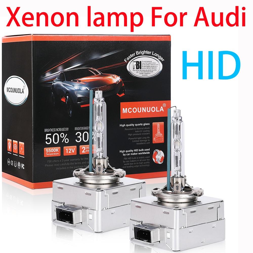 2PCS D1S D2R D2S D3S D4S D4R Car Headlights HID Bulb Xenon Lamp For Audi A1/A3/S3/A4/S4/A5/S5/RS5/A6/S6/RS6/A7/S7/A8/Q3/Q5/Q7