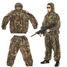 Outdoor Camping Multifunctional Bionic Ghillie Suit 3D Jungle Woodland Hunting Gaming Camouflaged Cloak