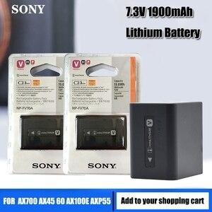 Original Sony NP-FV70A NP FV70A Camera Battery For Sony AX700 AX45 60 AX100E AXP55
