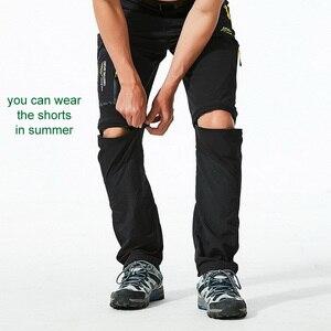 Image 5 - Loclimb calça masculina para trilhas, removível, para o verão, acampamento ao ar livre, viagem, esportes de montanha, calça cáqui am002