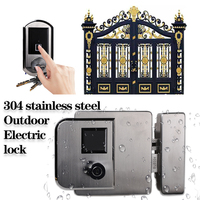 IP65 Weatherproof Electric Lock 304 stainsteel Lock High Quality Outdoor Fingerprint lock Wireless Door Locks for Gate Door