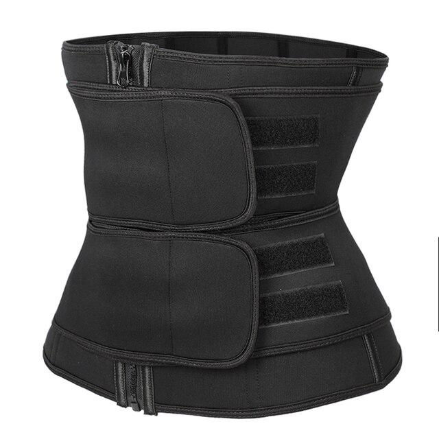 Waist trainer Slimming Belt Sauna Sweat Faja  tummy shaper Shaper Trimmer Straps Modeling Shapewear body binders shaper girdle 1