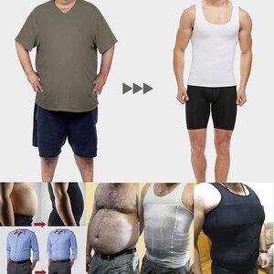 Image 5 - Herren Body Shaper Bauch Control Shapewear Mann Shapers Modellierung Unterwäsche Taille Trainer Korrektur Haltung Abnehmen Weste Korsett