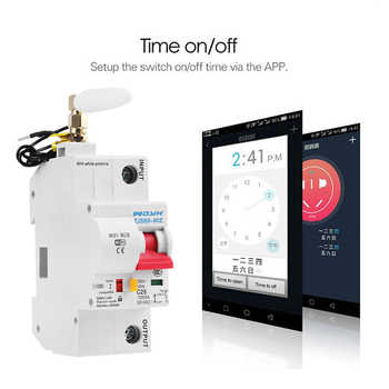 1P WiFi Smart Circuit Breaker Automatic Switch overload short circuit protection with Amazon Alexa Google home for Smart Home