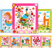Kids DIY Drawing-Toys Button-Stickers Class-Painting Handmade Early-Educational Children