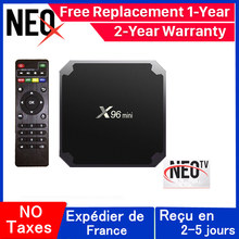 X96 mini francés iptv caja NEO tv pro Android tv caja 1G 8G 2G 16G neox FRANCIA europa árabe x96mini smart iptv box(China)