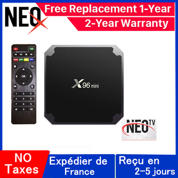 цена на X96 mini French iptv box NEO tv pro Android tv box 1G 8G 2G 16G neox Europe France Arabic x96mini smart iptv box