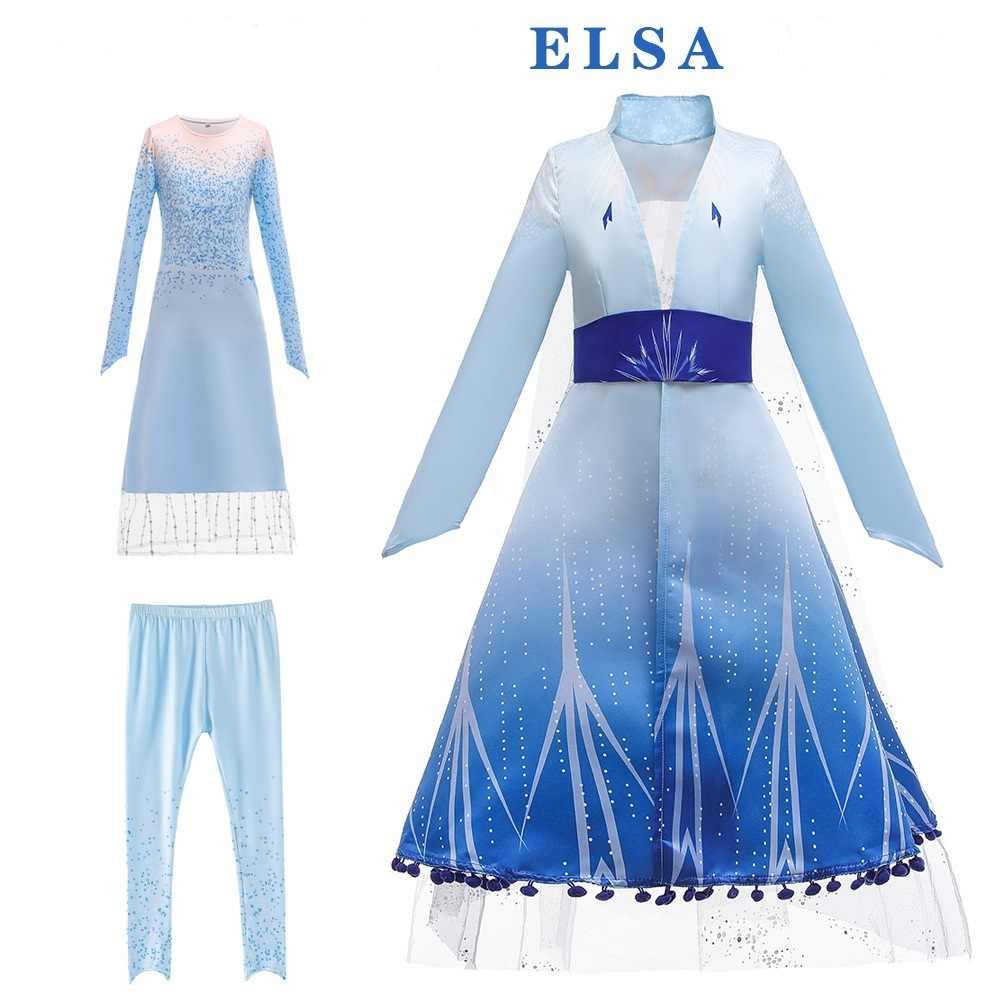 Fancy Girls Dress Birthday Party Cosplay Snow Queen Dress Elsa 2 Dress  Princess Dresses Anna Elsa Dress Fantasia Vestidos Dresses  - AliExpress