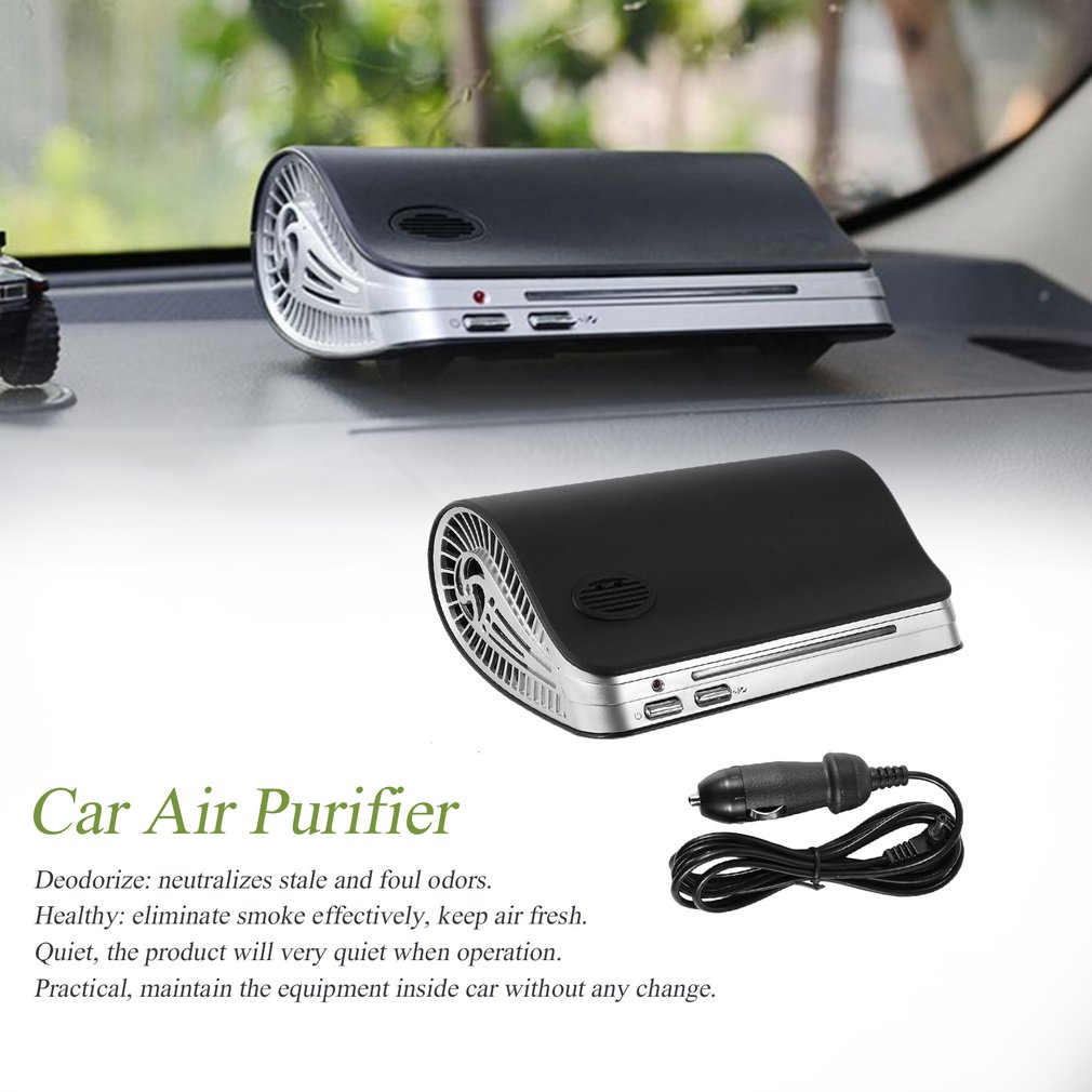 Car Air Purifier Auto Minus-Ion Air Purification Apparatus Portable Car Air Cleaner Ionic UV HEPA Ionizer Fresh Ozone