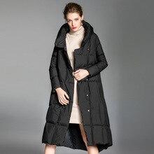 2020 New Women's Down Jacket Winter Coat Long 90% White Duck