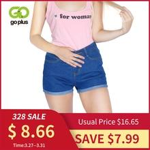 GOPLUS Jeans Shorts Vintage High-Waist Women Female Summer Ladies Solid Spring for C2296