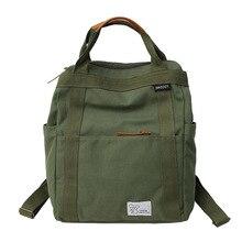 купить 2019 Hot Sale bag Canvas Backpack Women School Bags Girls Large Capacity Men Laptop Backpack Female Mochila Schoolbag дешево