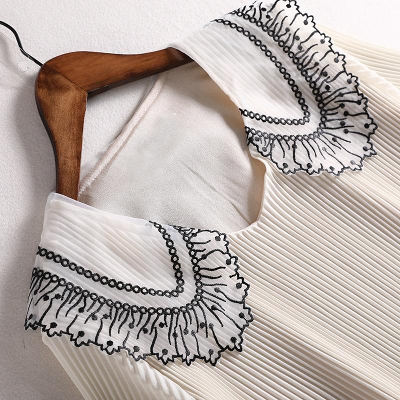 Lan Mu Square Fat Mm Elegant Chiffon Dress Large Size Dress Summer Wear Slimming By Age Pleated Skirt Western Style 10499