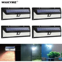 WAKYME-Lámpara LED de pared con Sensor de luz por movimiento PIR Solar, luz de emergencia para decoración de jardín, impermeable, 118 LED