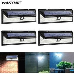 Wakyme 118 led solar luz pir sensor de movimento lâmpada parede ao ar livre à prova dwaterproof água solar powered jardim decoração luz de emergência