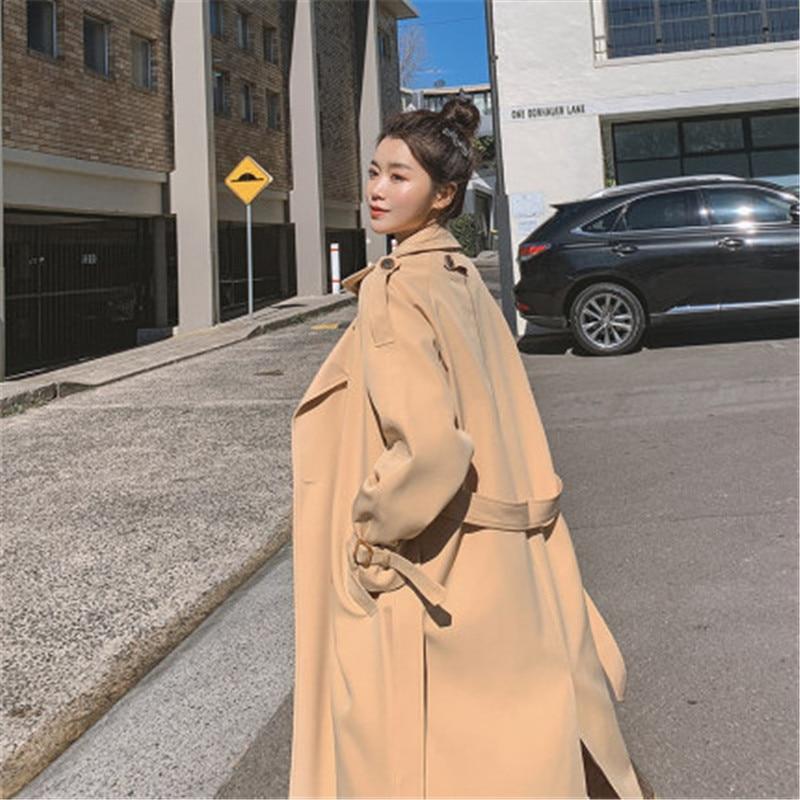 2020 New Spring Autumn Windbreaker Women's Clothing Fashion Temperament Korean Loose Long Trench Coats For Women Overcoats G103