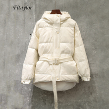 Fitaylor Winter Ultra Light Women Down Jacket Warm White Duc