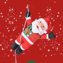 цена на Christmas Santa Claus Climb Rope Pendants Doll Climb Ladder Hanging For Room Decoration Home Decoration Accessories
