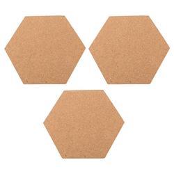3 Pcs Hexagon Prikbord Prikbord Creatieve Zelfklevende Foto Muur Voor Home Woonkamer Presentatie Boards (20X17.5X0.6 Cm)