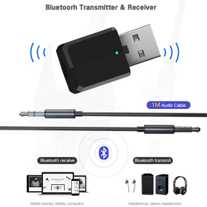Image 2 - 5.0 Bluetooth משדר מקלט מיני 3.5mm AUX סטריאו אלחוטי Bluetooth מתאם לרכב אודיו Bluetooth משדר עבור טלוויזיה