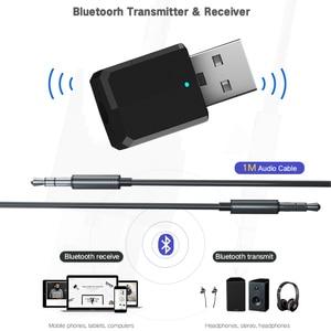 Image 2 - 5.0 émetteur Bluetooth récepteur Mini 3.5mm AUX stéréo sans fil adaptateur Bluetooth pour voiture Audio émetteur Bluetooth pour TV