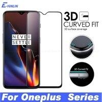 Protector de pantalla de borde curvado 3D, película de vidrio templado para OnePlus One Plus 9 8T 8 Pro 7T 7 6T 6 5T 5G