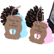 Baby Shower 50pcs Thank You for Coming Label Tag New Born Boy Girl 1st Birthday Party Decor Baptism Babyshowert Tags