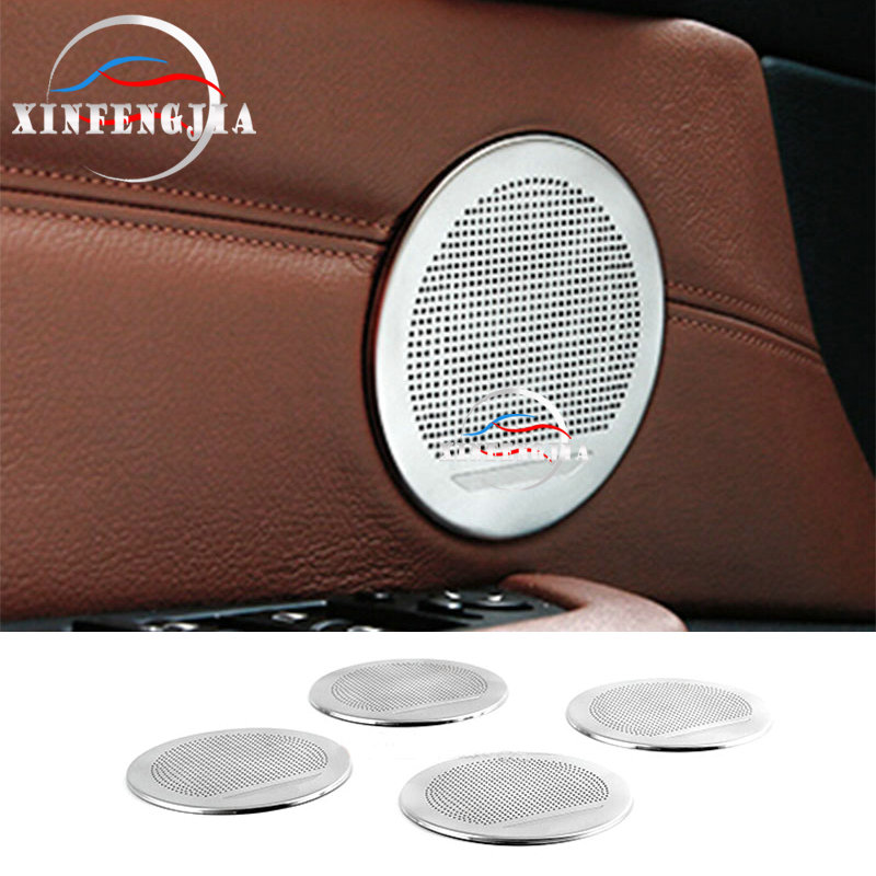 For <font><b>BMW</b></font> X3 X4 F25 F26 11-17 & 5GT F07 11-17 & X5 X6 <font><b>E70</b></font> E71 07-14 4PCS Speaker Audio Ring Decoration <font><b>Trim</b></font> image