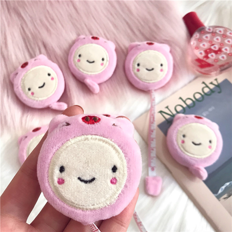 Tape Measure Plush Cartoon Retractable Soft Tape Measure 1.5m/60 Inch For Sewing Body Cloth VDX99