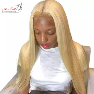 613 Lace Frontal Wig 100% Human Hair Wigs Arabella Long Straight Wig Pre Plucked 13x4 Peruvian Remy Blonde Bob Lace Front Wig