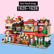 цена на LOZ Mini Blocks Building Blocks Architecture DIY Bricks City Series Mini Street Model Store Shop Assembly Toy Kid Educational