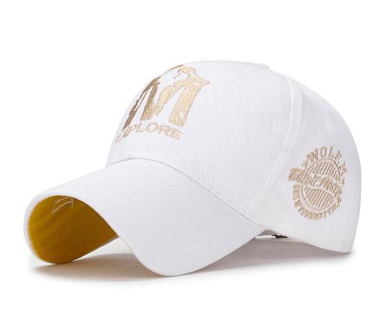 Fashion Couple Embroidered Baseball Cap Men's Outdoor Sports Hat Ladies Sunscreen Visor Cap M Printed Casquette Hip Hop Cap