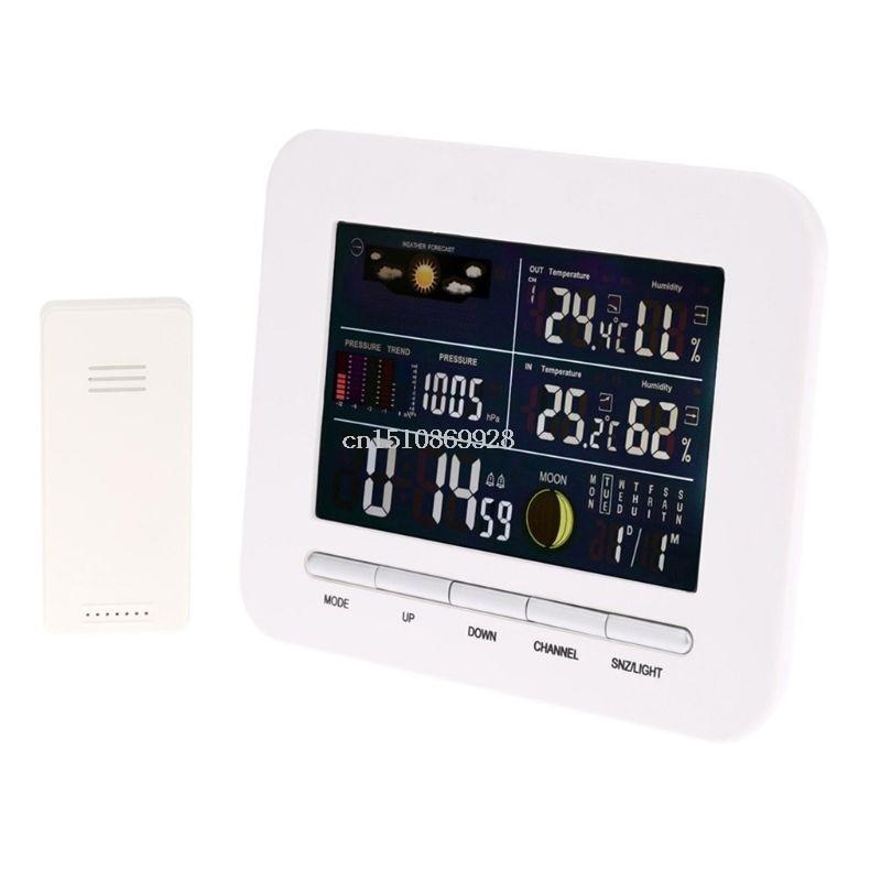 European standard multi-function wireless weather station clock barometer