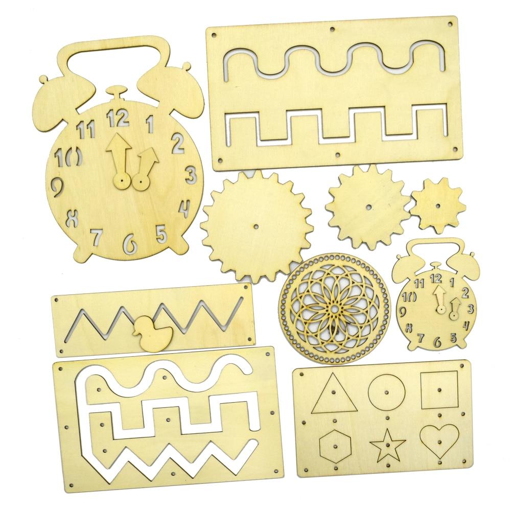 Sammelalbum Puzzle Liefert Holz Chips Holz Stück Eltern-kind handwerk Für Home Hochzeit Kind Bildung Ornamente
