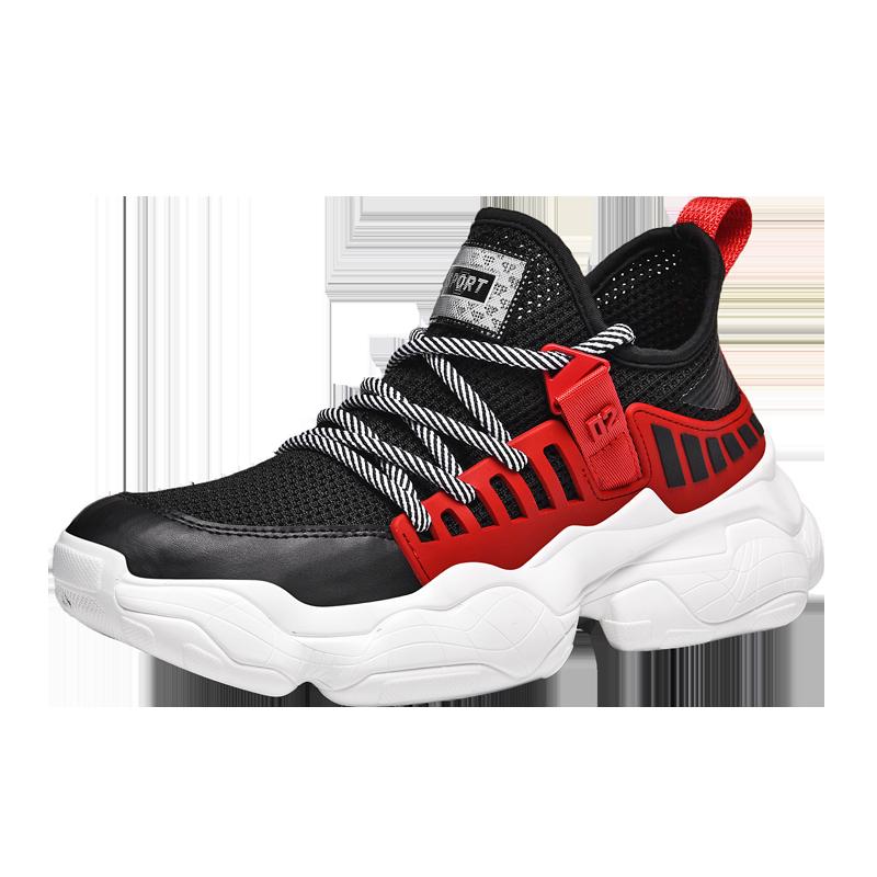 2019 جديد حذاء رجالي السببية تنفس مريحة الرجال حذاء رياضة حجم كبير الدانتيل متابعة الأساسية احذية الجري TPU الأزياء