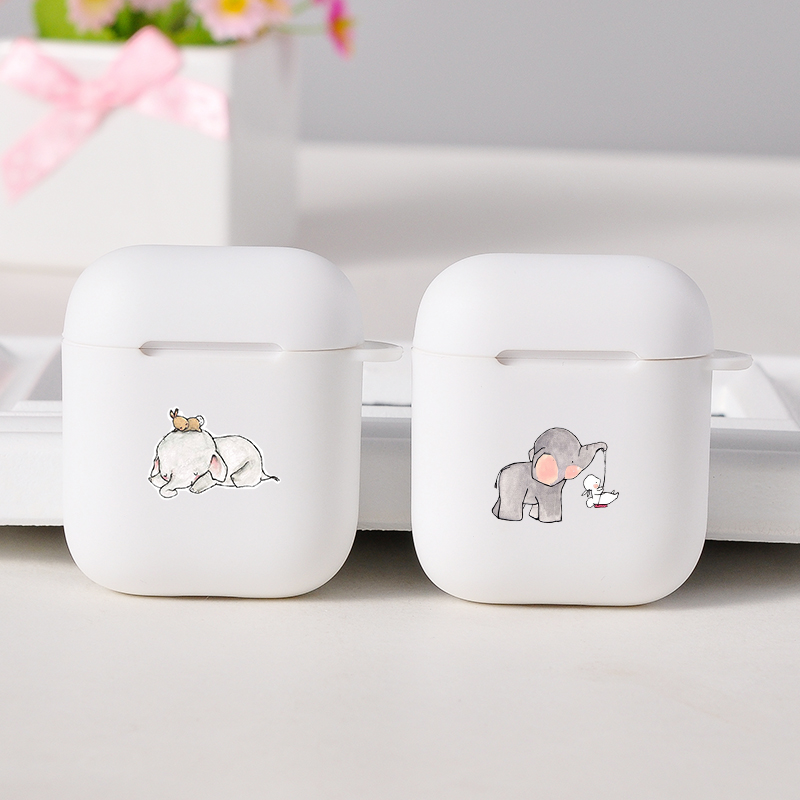 Soft Air Pods Case For Apple Airpods 1/2 Case Cute Cartoon Dumbo Elephant Silicone Bluetooth Wireless Earphone Protective Covers