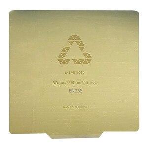 ENERGETIC 220x22 0/235x23 5/310x310 мм пружина для удаления стальной лист предварительно приложенный PEI Flex пластина для CR10 Ender 3 3D Принтер Горячая кровать