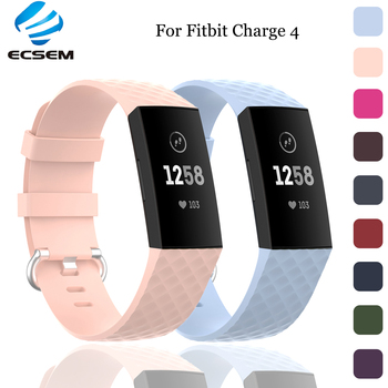 Ecsem Strap For Fitbit Charge 4 Band TPU Durable For Charge 3 3SE Wristband Waterproof Wristband Bracelet For Fitbit Smart Watch фото