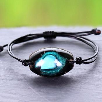 Orgonite pulseira natural turquesa energia pulseira charme cura jóias pulseira reiki obsidiana meditação pulseira para mulher 1