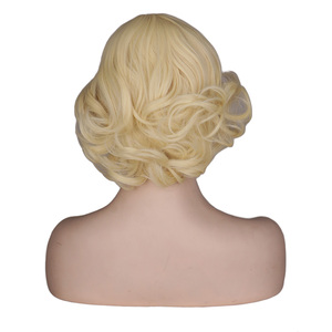 Image 3 - QQXCAIW Women Girls Short Blonde Curly Cosplay Wig Cos Marilyn Monroe Female  Party High Temperature Fiber Synthetic Hair Wigs
