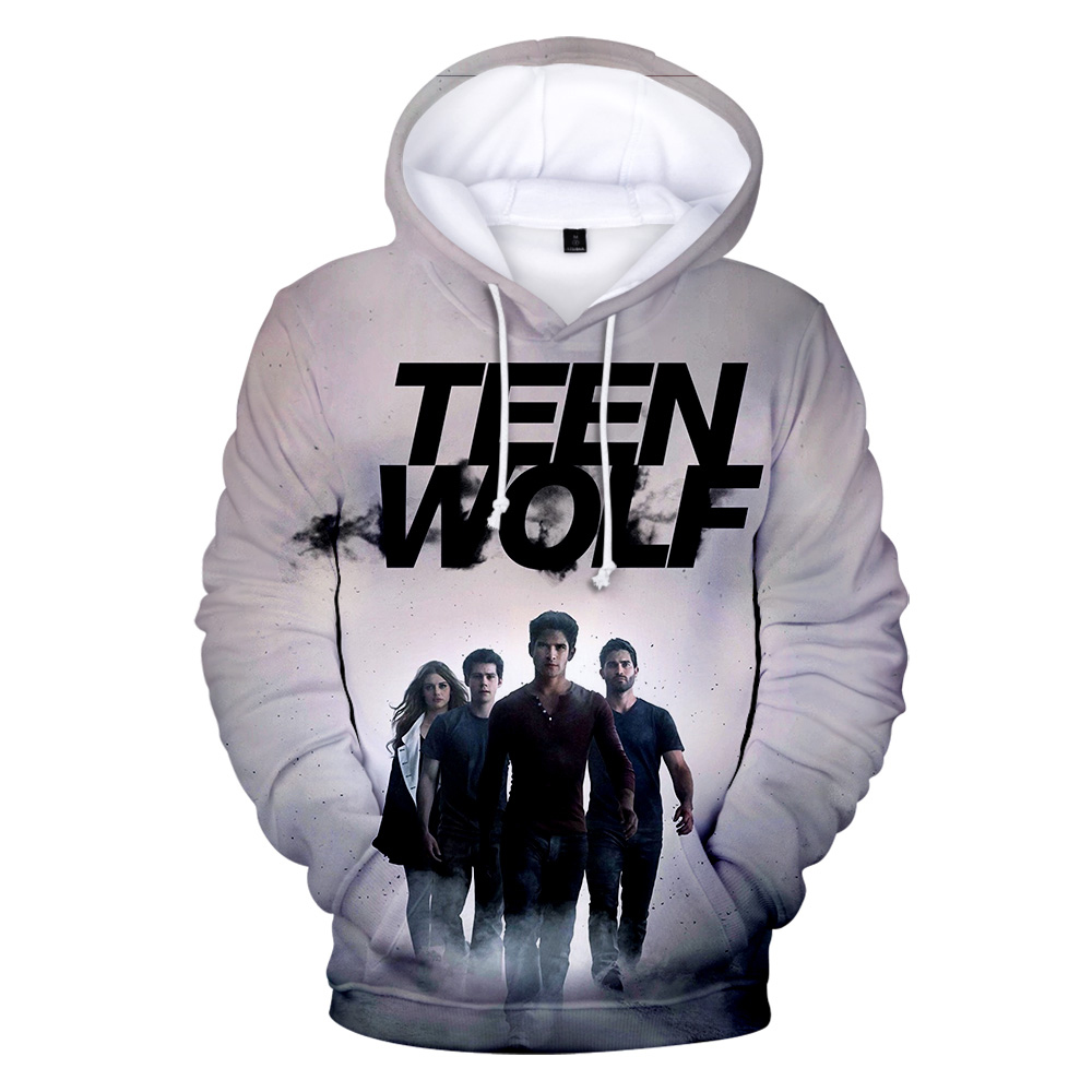 TV series TEEN WOLF 3D Hoodies Men Fashion Harajuku Autumn Winter Kids Streetwear TEEN WOLF Casual pullovers Funny Sweatshirt