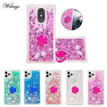 Перейти на Алиэкспресс и купить Чехол для LG Stylo 5 с кольцом на палец, чехол для телефона LG Stylus 3 4 Stylo 3 4 5 Q Stylus LS777, мягкий блестящий чехол-накладка
