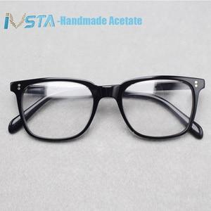 Image 2 - IVSTA OV 5031 with logo NDG 1 Acetate Glasses Men Optical Frame Prescription Polarized Sunglasses Square Luxury Brand Box Myopia