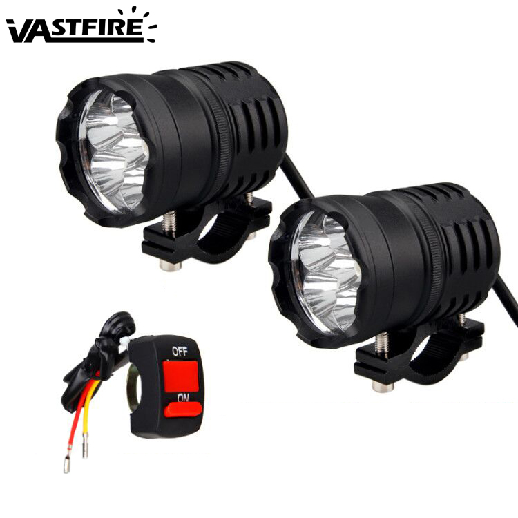 1 Or 2PCS U50 3 mode 60W 6LED Motorcycle Headlight Spot Light LED Driving Fog Light Lamp Waterproof