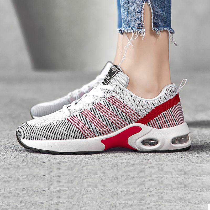 Luxury Women Casual 2020 Air Cushion Sneakers Sneakers Plush Women Shoes Lace Up Female Boots Comrfortable Platform Shoes Women